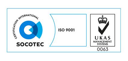 Socotec ISO 9001 UKAS 0063