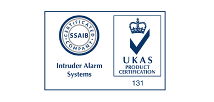 SSAIB Certified - Intruder Alarm Systems UKAS 131
